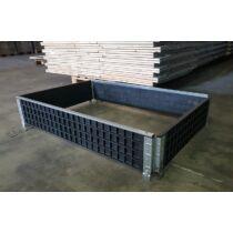 Műanyag raklapmagasító keret 80x120