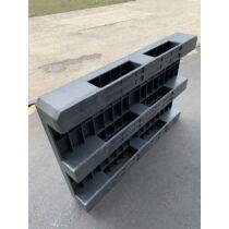 Műanyag raklap 80x120 APP Z2 PE felül zárt raklap peremmel, fekete