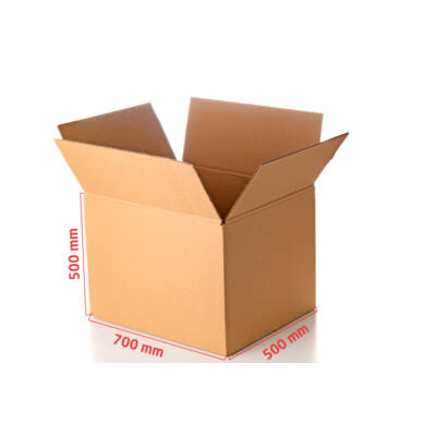 G11/5 hullámkarton doboz 700x500x500mm tetőfenék-lapolt (TF) kartondoboz FIO-0243