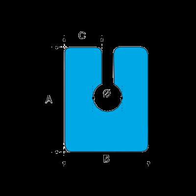 FIO-0633 50×60 R2/35 hab élvédő üveg idomokhoz