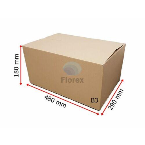 B3 480x290x180 mm 31BC, 5 retegu Hullamkarton doboz