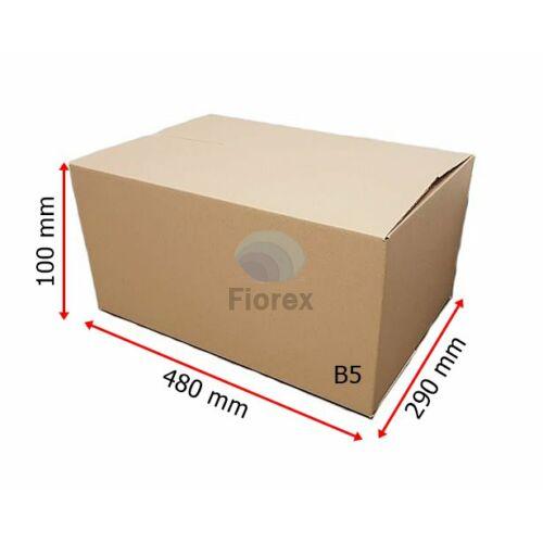 B6 480x290x100 mm 31BC, 5 retegu Hullamkarton doboz