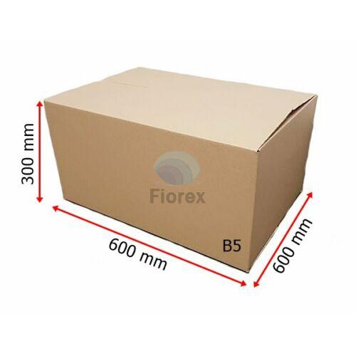 B5 600x600x300 mm 31BC, 5 retegu Hullamkarton doboz