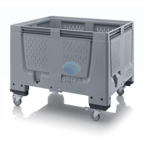 Műanyag konténer perforált görgős 100x120x93 BBO 1210R