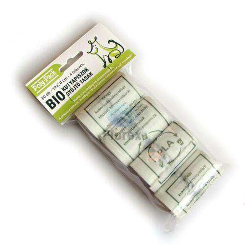 "Lebomlo ""KUTYAKAKIS"" rollos zold tasak, PLA 110+(2x40)x300x0,018 mm 4 tekercs/csomag"