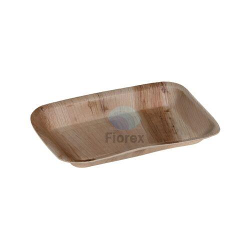 Pálmalevél tányér, négyszögletű 16x24cm