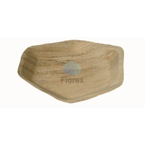 Pálmalevél tányér 24cm, hatszögletű