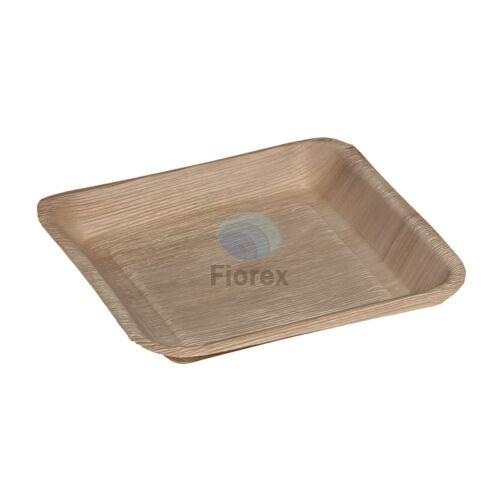 Pálmalevél tányér, négyzet alakú 24x24cm