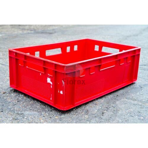 Húsos láda E2 használt 60x40x20 piros