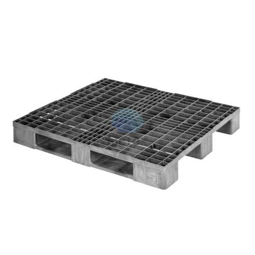 Műanyag raklap FIO STAD1210 100x120 fekete rácsos