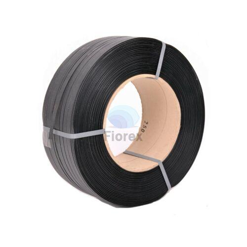 Pántoló szalag 16x0,7/250x160mm, fekete PP
